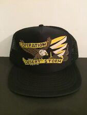 Vintage Operation Desert Storm Eagle Snap-back Trucker Cap Hat Men's OSFM