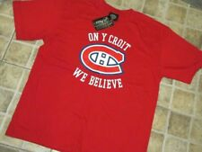 "Montreal Canadiens ""We believe"" kids T-Shirt Size L"