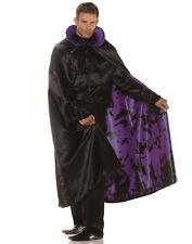 Satin Purple Bat Cape Adult Male Halloween Costume Accessories - One Size