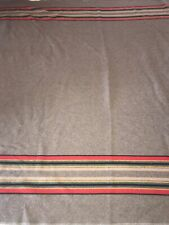 Pendleton Yakima Camp in Mineral Umber Stripe Wool Blanket QUEEN Size 90