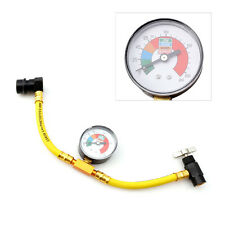 R134a Refrigerant Recharge Hose Can Tap Car Air Conditioning Pressure Gauge New