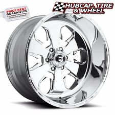"FUEL FORGED FF24 POLISHED 24""x16 CUSTOM WHEELS RIMS (4 RIMS) 9 LIP STYLE CHOICES"