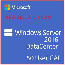Windows Server 2016 Datacenter License RDS 50 USER CALs + Download Link + RETAIL