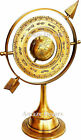 """11"""" Antique Brass Armillary Sphere With Arrow Nautical Maritime Engraved"""