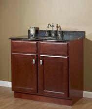 """Birch Bathroom Vanities jsi newport birch 24"""" cherry bathroom vanity w/ 2 doors - cabinet"""