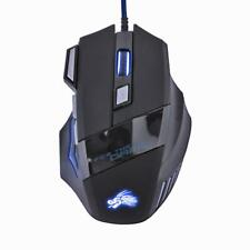 5500DPI LED Optical USB Wired Gaming Mouse 7 Buttons Gamer Computer Mice #gib