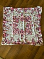 """Vintage Small Tablecloth Mexico Southwestern Pink And Purple 30"""" X 32"""""""