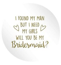 will you be my bridesmaid? pin badge / stickers wedding reveal bride church 1247