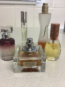 Ladies perfume Fragrance bundle Edt Edp Gucci Molton Brown Body Shop Etc Lot 1