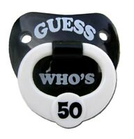 Guess Who's 50 Funny Novelty Pacifier Orthodontic Nipple, Ages 6 Months & Up!