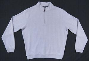 NWOT Footjoy FJ Golf 1/4 Zip Logo Gray Long Sleeve Pullover Sweater Jacket L