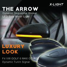 Pair Dynamic LED Side Mirror Turn Signal Indicator Light Fit VW Golf MK6 Touran