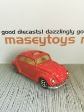 Majorette No.202 VW Volkswagen Beetle. Red. Original Vintage Diecast