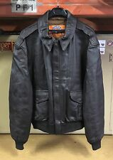 GENUINE USAF COOPER JACKET FLYERS LEATHER GOATSKIN BROWN TYPE A-2 EX COND !! 48R