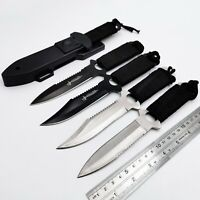 Hunting Straight Fixed Knife Steel Blade Outdoor Camping Multi-function Knives