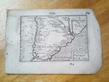 C1600'S ATLAS MINOR, MERCATOR JODOCUS HONDIUS SERIES, CHILI, PATAGONIA