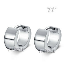 Trendy TT Silver 7mm Thick Stainless Steel Earrings Extra Large 20cmm Hoop