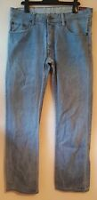 Duck And Cover Mens Jeans Blue W32 L32 Pure Cotton Denim Button Fly