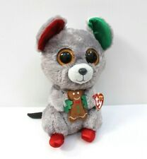 """Ty The Beanie Boo's Collection Mac The Christmas Mouse Medium Plush 9"""""""