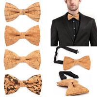 Novelty Men's Wooden Bow Tie Wedding Wood Bowtie Neck Wear Cravat Necktie Gifts