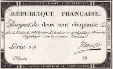 BEL ASSIGNAT DE 250 LIVRES 1793 TTB