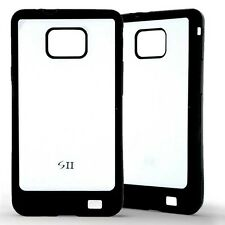 Housse Coque Etui Samsung Galaxy S2 i9100 Bicolor silicone gel - Blanc