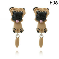 handcrafted pug stud earring resin statement gift UK cute french bulldog british