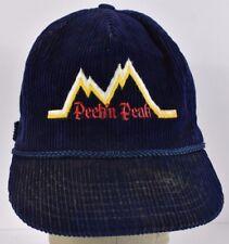 Navy Blue Peek'n Peak Hotel NY Corduroy Embroidered Baseball hat cap Adjustable