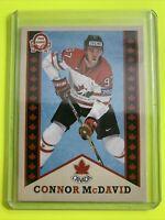 2017-18 O-Pee-Chee UD team Canada retro #R-1 Connor McDavid Edmonton Oilers