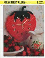 Strawberry Clock, Annie's plastic canvas pattern leaflet