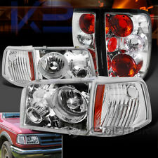 93-97 Ford Ranger Chrome Clear Projector Headlights+Corner Lights+Tail Lights
