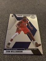 ZION WILLIAMSON RC 2019-20 Panini Prizm Mosaic NBA Debut ROOKIE #269 Pelicans