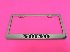 VOLVO - STAINLESS STEEL Chrome Metal License Plate Frame Tag Holder w/Screw caps