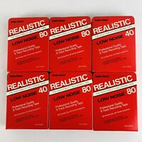 Lot (6) Realistic Recording 8 Track Tapes 80 & 40 minute Blank Cartridges