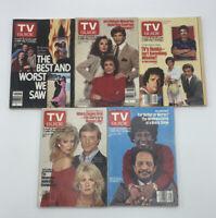 TV Guide July 2- Aug. 5 NO LABEL Magnum Falcon Crest Sherman Hemsley Knots Land