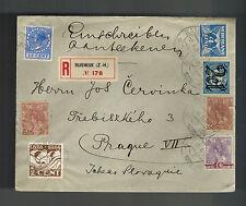 1925 Rijswijk Netherlands airmail Cover to Prague Cazheoslovakia