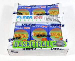 1993-94 Fleer Basketball Series 1 Jumbo Cello Box Sealed (24 Packs)