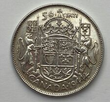 CANADA 1944 NARROW DATE  50 CENTS KING GEORGE VI .800 SILVER C3
