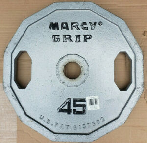 SINGLE 45 lb MARCY Olympic grip barbell weight plate gym 45lb