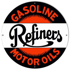 "Refiners Gasoline Reproduction Sign 24""x24"""