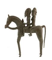 Cavaliere Dogon Bronzo Del Mali Arte Africano -28 CM Aa 429
