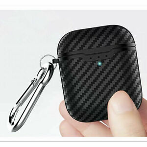 Protective Carbon Fibre Apple Airpod Case - TPU Cover Anti Lost Skin for Airpods