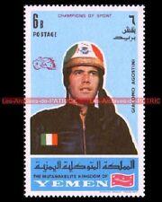 AGOSTINI Giacomo Pilote YEMEN Timbre Neuf Poste Moto 1969 Stamp Stempel Sello