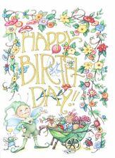 Mary Engelbreit-HAPPY BIRTHDAY Elf Insects-Happy Birthday Card-NEW!
