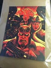"Hellboy "" Angels and Demons"" by Matthew Johnson LE of 40 Made S/N 18 x 24 inches"