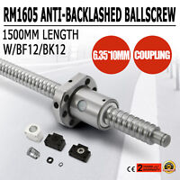 Ball screw SFU1605--1500mm Anti-backlashed BF12/BK12 Approve Honor 6.35*10mm