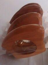Napkin rings wood set 8 pcs TEAK wood HomeStyle NEW in package