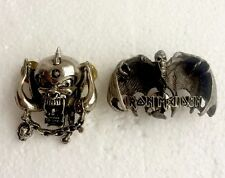 Motorhead & Iron Maiden Pin Badges, Rock, Heavy Metal, Biker, Hells Angels etc..