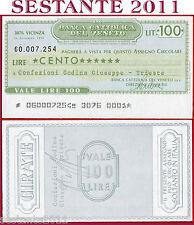 BANCA CATTOLICA DEL VENETO Lire 100 14.12. 1976 CONFEZIONI GODINA G. TRIESTE B95
