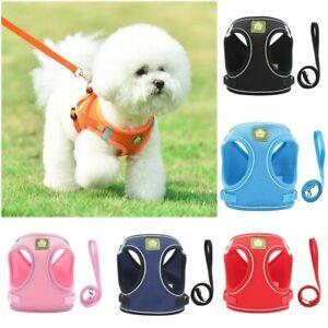 Pet Dog Harness & Leash Set for Dogs Reflective Puppy Chest Vest Strap XS - XL